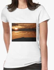 Grianian of Aileach Sunset ,Donegal, Ireland  Womens Fitted T-Shirt