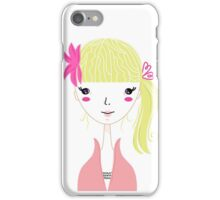 Beautiful Blond Girl isolated on White iPhone Case/Skin