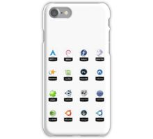 linux distributions set stickers /more iPhone Case/Skin