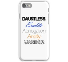 Divergent Factions iPhone Case/Skin