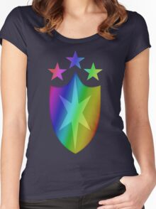 MLP - Cutie Mark Rainbow Special - Shining Armor Women's Fitted Scoop T-Shirt