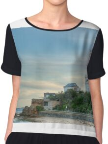 1041 Point Lonsdale Lighthouse Chiffon Top