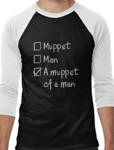 Muppet or Man DARK Men's Baseball ¾ T-Shirt