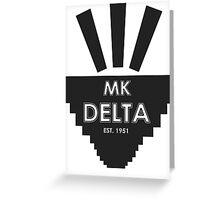 MK Delta Vodan Greeting Card
