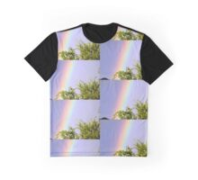 Rainbow on my trees from patio door. Graphic T-Shirt