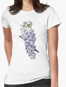 Flower - Wisteria Womens Fitted T-Shirt