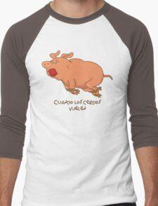 Cuando los cerdos vuelen Men's Baseball ¾ T-Shirt