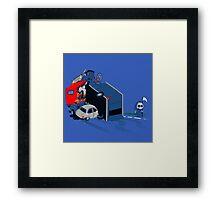 hitch-hicking Framed Print