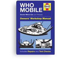 Haynes Manual - Whomobile - Poster & stickers Canvas Print