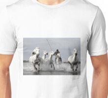 Wild White Horses, racing in Unisex T-Shirt
