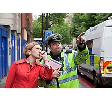 Traffic police London Photographic Print