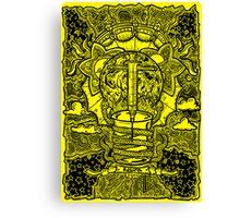 Rebirth - Black & Yellow Canvas Print