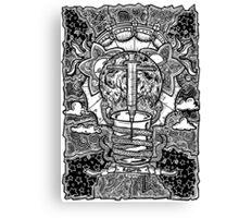 Rebirth - Black & White Canvas Print