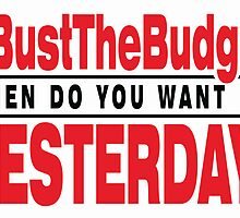 Bust The Budget - card - white by 3wisedonks