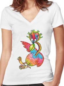 Birdy Numnum Women's Fitted V-Neck T-Shirt
