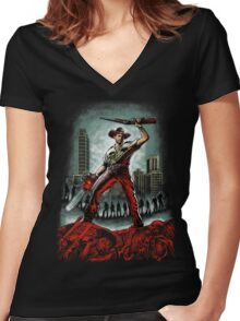 Army Of Walkers Women's Fitted V-Neck T-Shirt