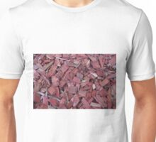 Red Wood Chips Unisex T-Shirt