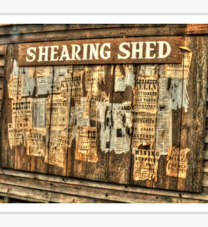 The Shearing Shed At Wilberforce Sticker