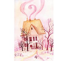Pinky fairytale cottage Photographic Print