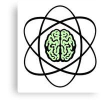 Atomic Nucleus Brain Canvas Print