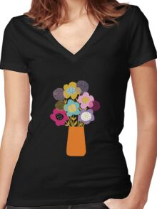 Bouquet Women's Fitted V-Neck T-Shirt
