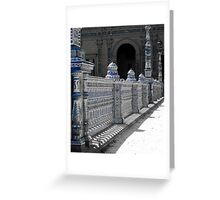 Details in Blue from Seville  Greeting Card