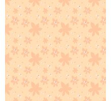 Coral pale pink white flowers and butterflies Photographic Print