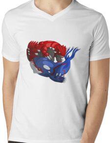 Groudon & Kyogre Mens V-Neck T-Shirt