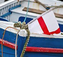 Patriotic Old Boat by Susie Peek