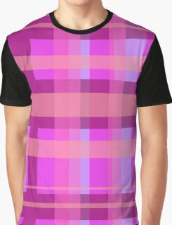 Hot pink plaid Graphic T-Shirt