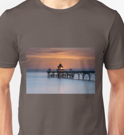 Sunset at the End of the Pier Unisex T-Shirt