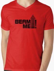 Beam me up V.1 (black) Mens V-Neck T-Shirt