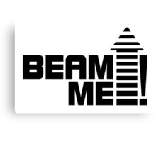 Beam me up V.1 (black) Canvas Print