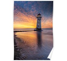 Sunset at the Lighthouse Poster