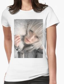 Silver Winter Womens Fitted T-Shirt