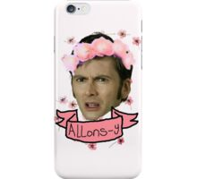 Tenth Doctor Flower Crowns iPhone Case/Skin