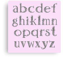 Girly alphabet Canvas Print