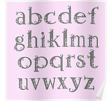 Girly alphabet Poster