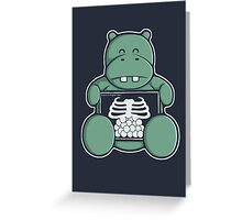 The Hippo who was hungrier Greeting Card