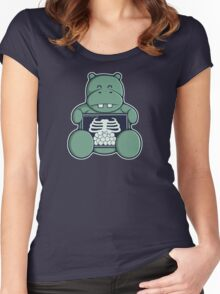 The Hippo who was hungrier Women's Fitted Scoop T-Shirt