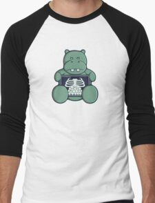 The Hippo who was hungrier Men's Baseball ¾ T-Shirt
