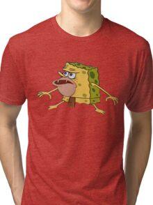 sponge bob caveman meme Tri-blend T-Shirt