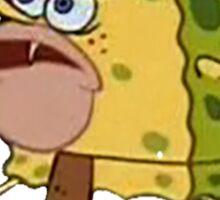 sponge bob caveman meme Sticker