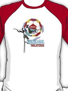 Brasil Futebol 14 Inglaterra shirt T-Shirt
