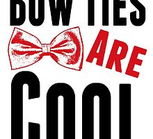 Bow Ties Doctor Who by geekchicprints