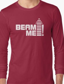 Beam me up V.1 (white) Long Sleeve T-Shirt