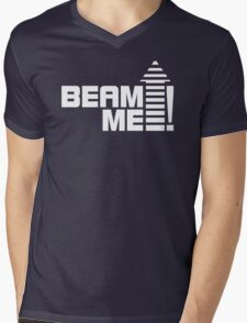 Beam me up V.1 (white) Mens V-Neck T-Shirt