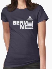 Beam me up V.1 (white) Womens Fitted T-Shirt