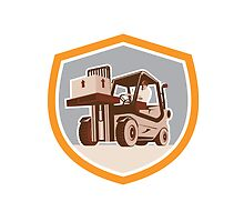 Forklift Truck Materials Handling Logistics Shield by patrimonio