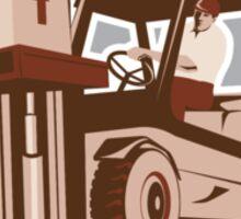 Forklift Truck Materials Handling Logistics Shield Sticker